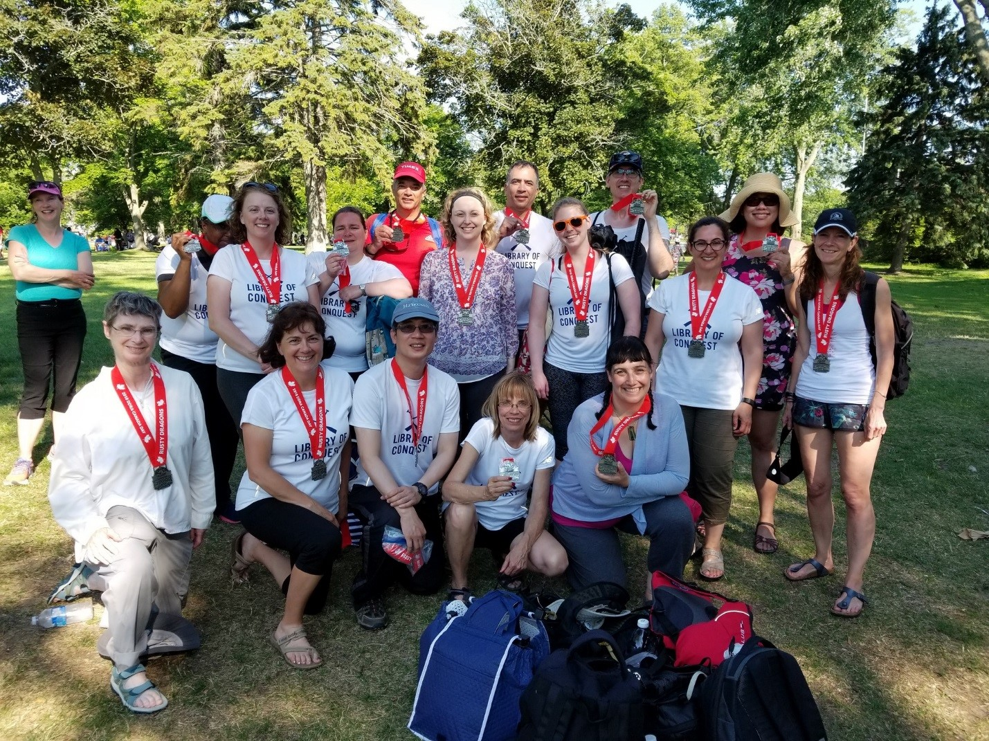 UTL dragon boat team with silver medals