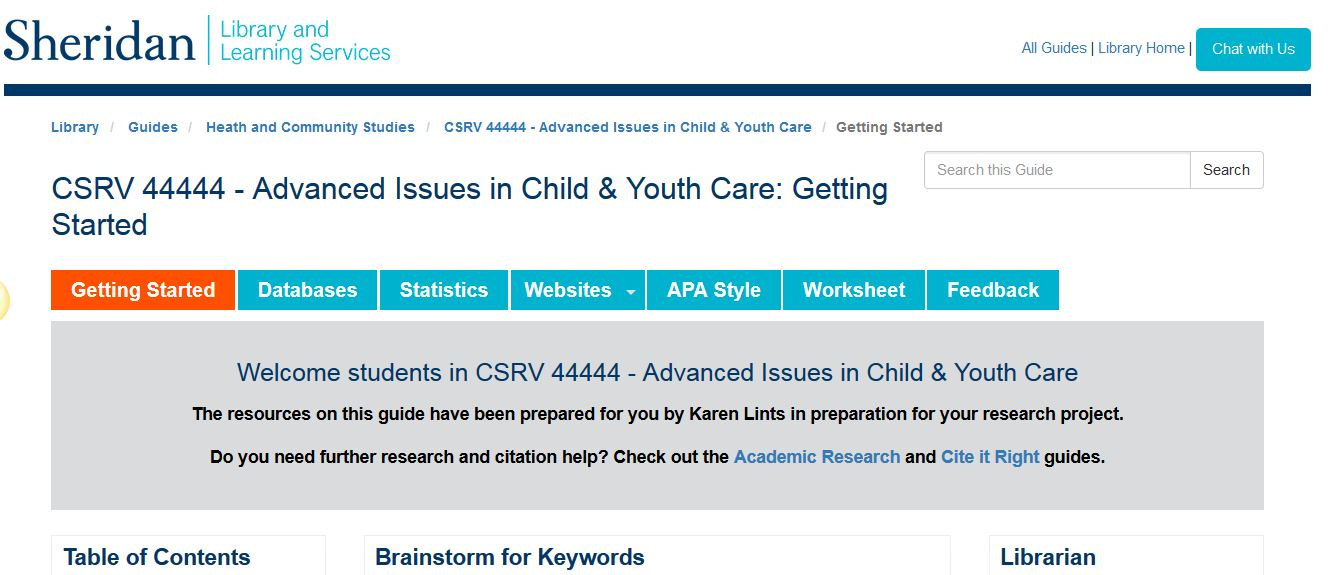 Worksheet Csrv 44444 Advanced Issues In Child Youth Care
