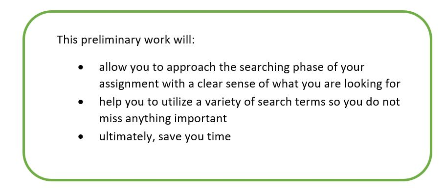 The importance of preliminary work