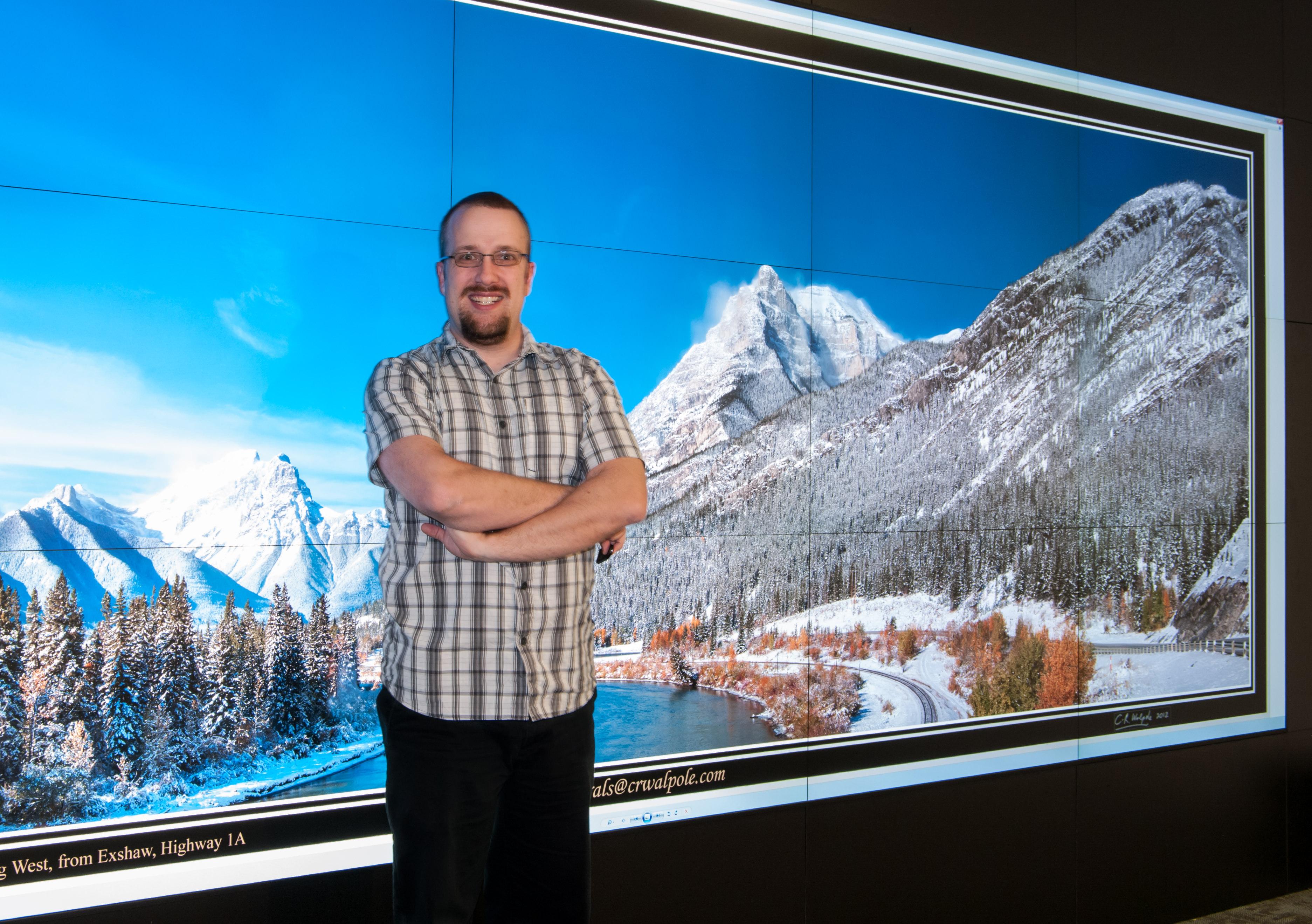 John Brosz at the TFDL Visualization Studio