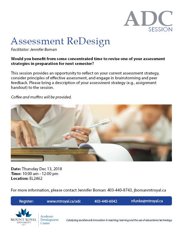 Assessment Redesign
