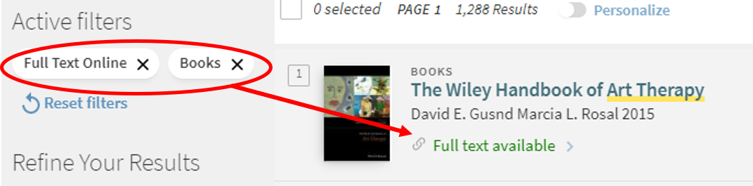 With full text online and book filters applied you should see results indicating online availability