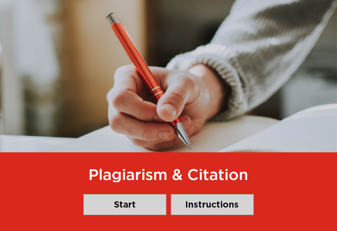 Plagiarism and Citation module start page