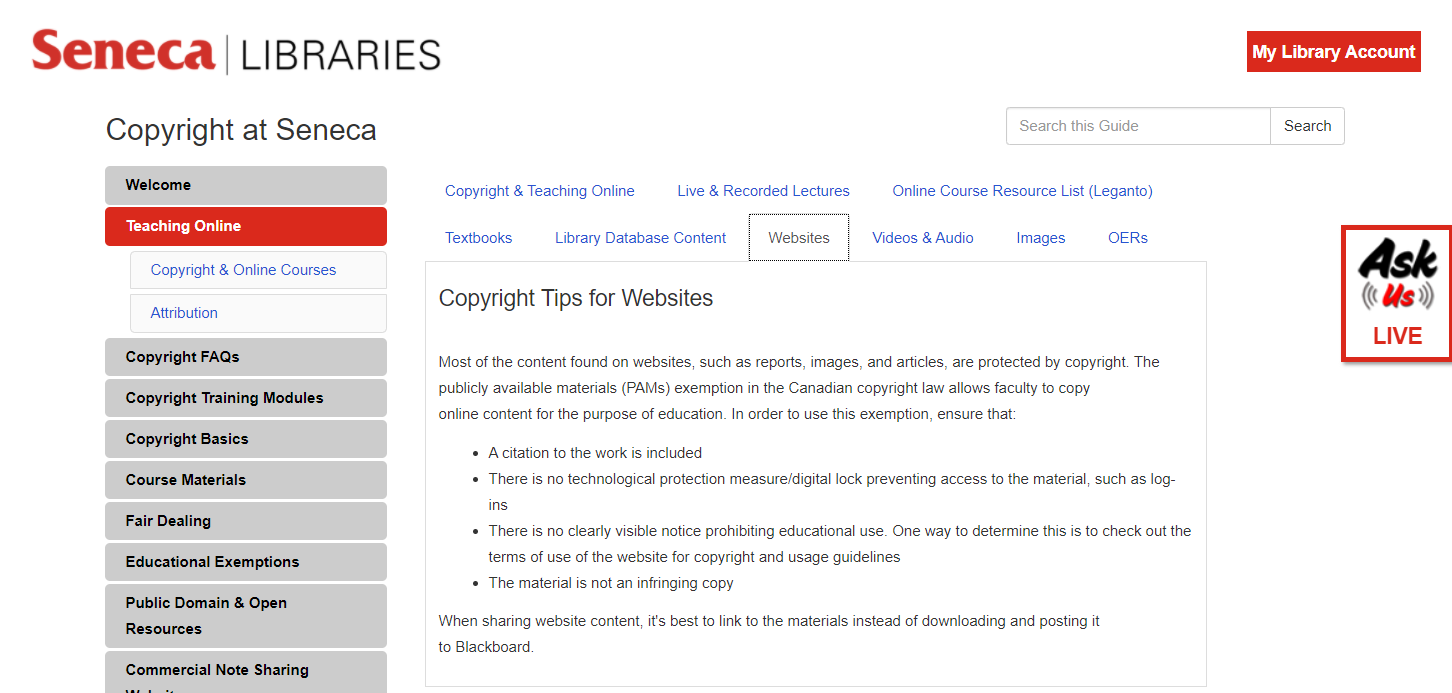 Copyright Guide Teaching Online