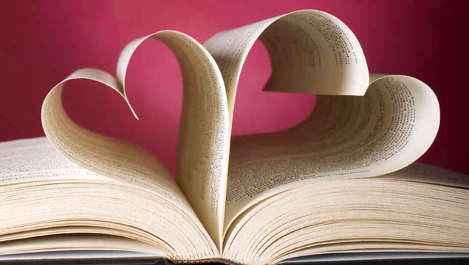 books shaped like hearts