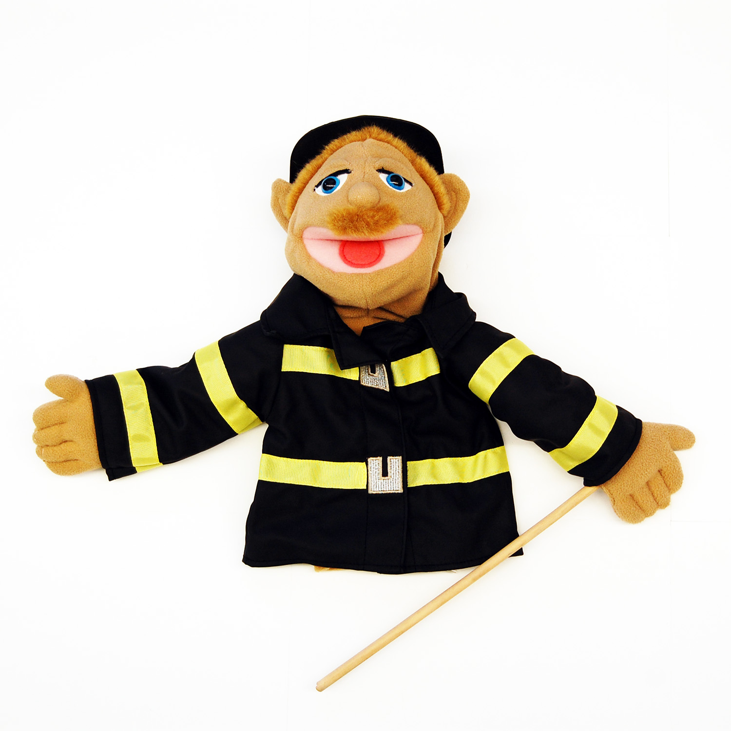 half body firefighter puppet
