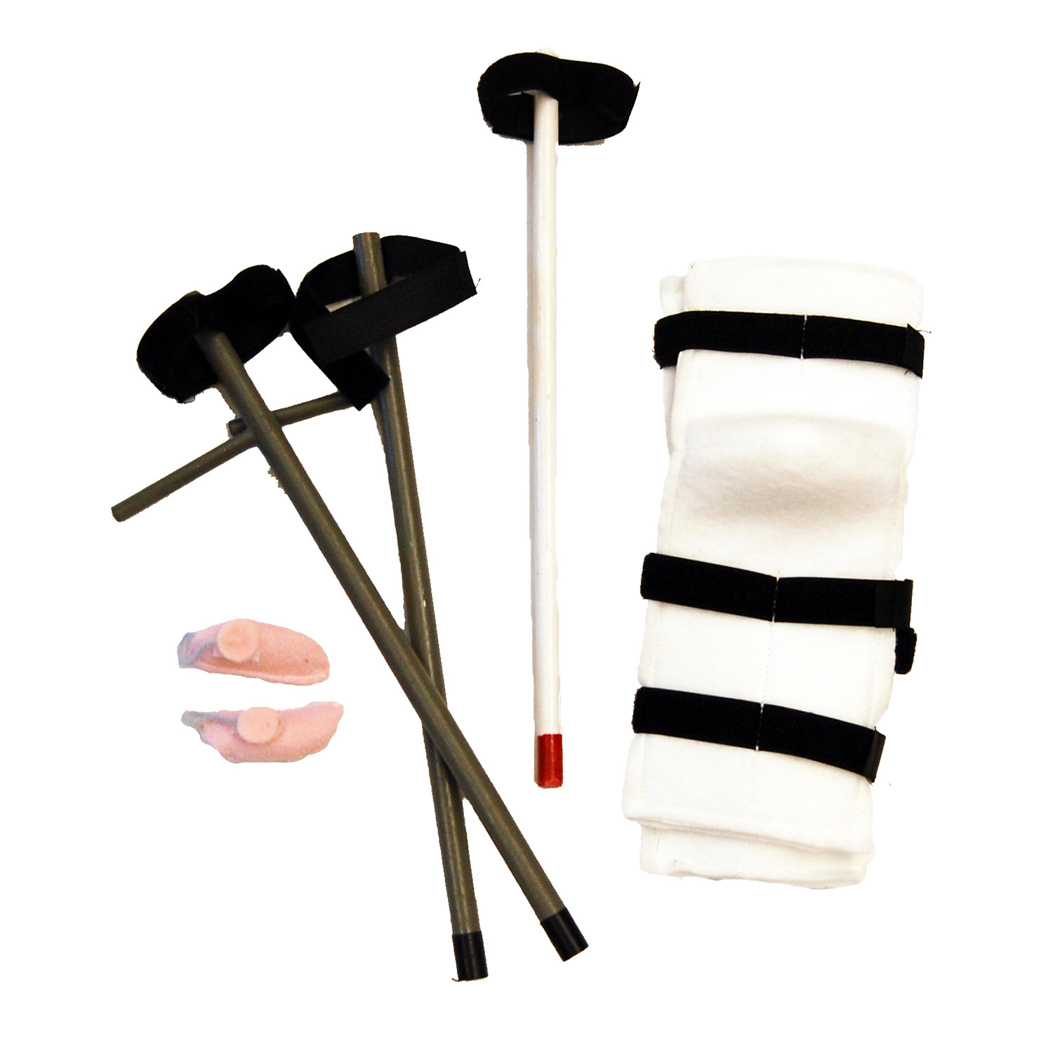 Special needs accessories, casts, crutches, hearing aids, white cane