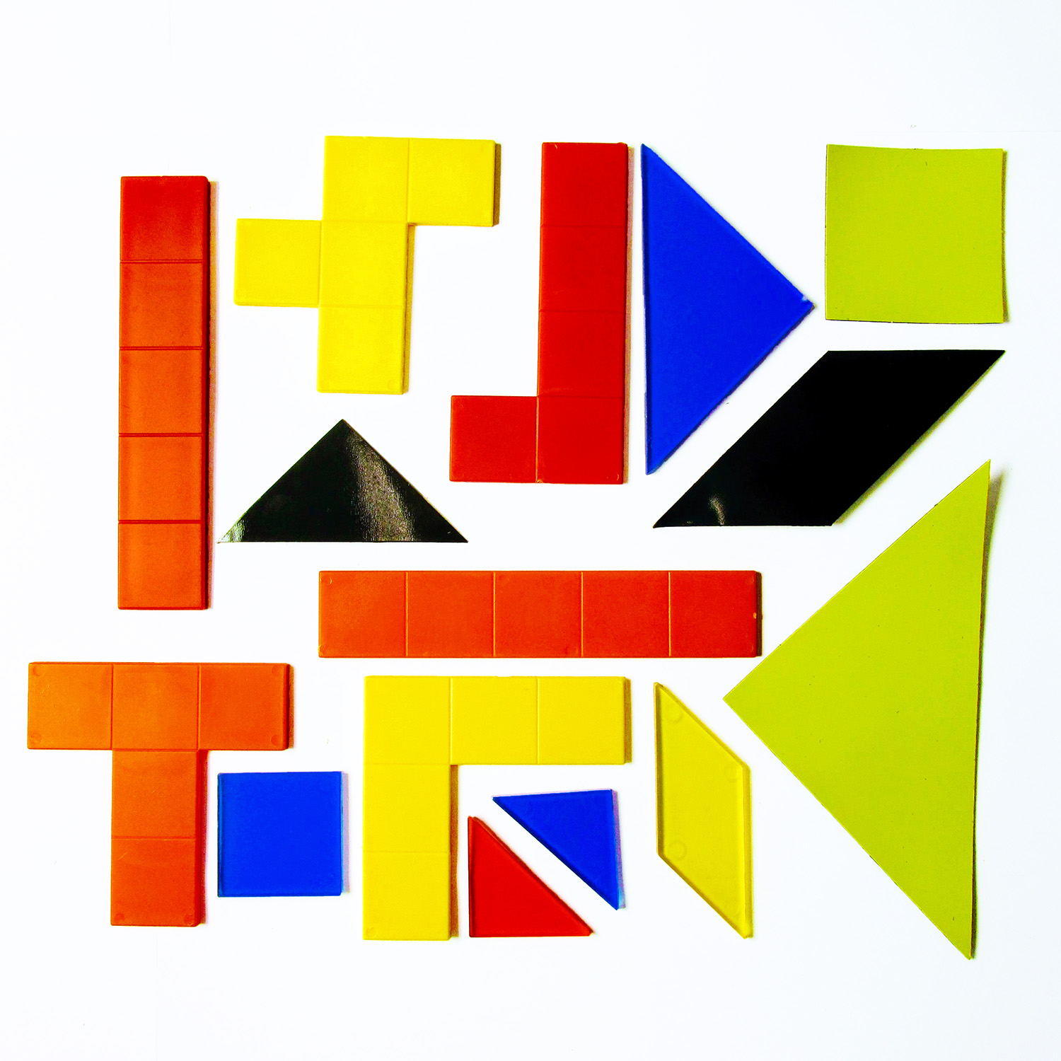 tangrams and pentominoes