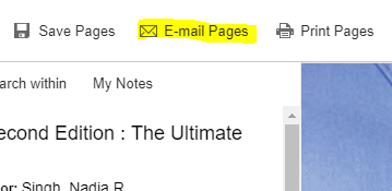 email pages link highlighted