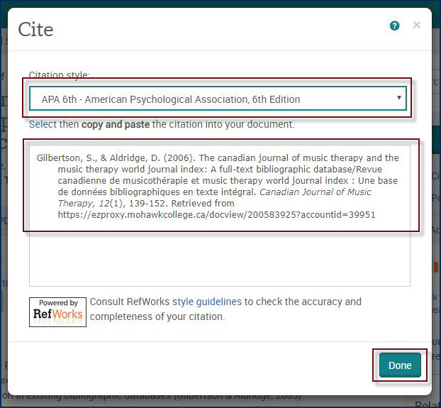 example of an apa citation in proquest