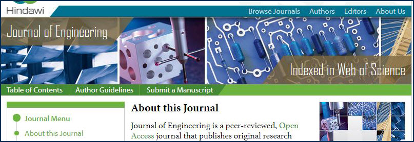 example of a journal website