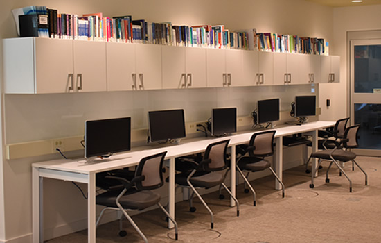 computer workstations at the iahs library