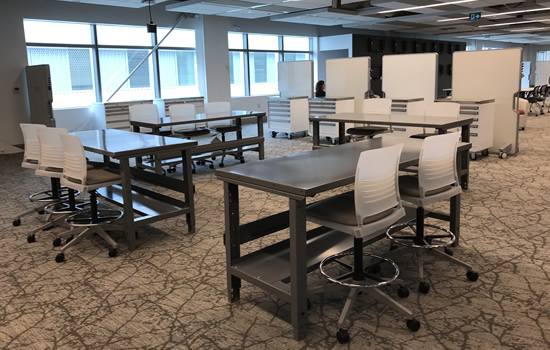 makerspace area in the dcc