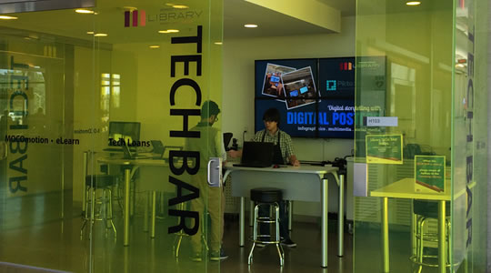 library tech bar at the fennell campus