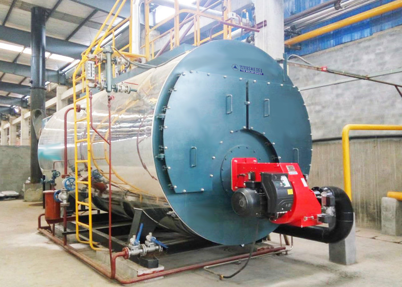 A picture of a steam boiler.