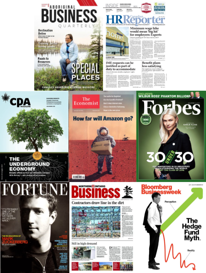 Business magazine & journal covers