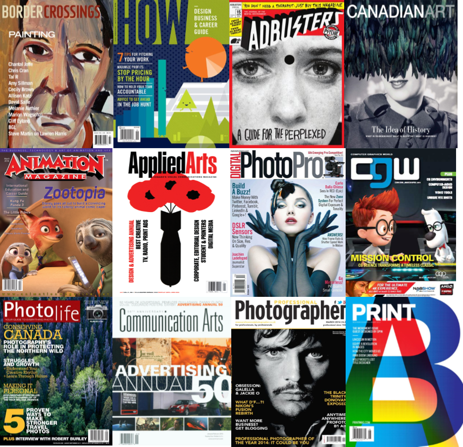 Creative arts magazine & journal covers