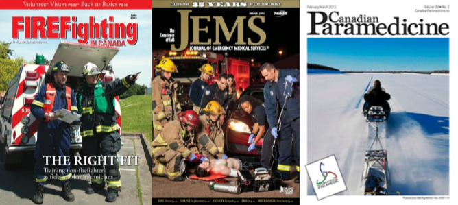 Emergency services magazine & journal covers