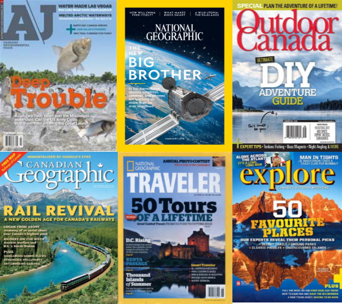 Environment & travel magazine & journal covers