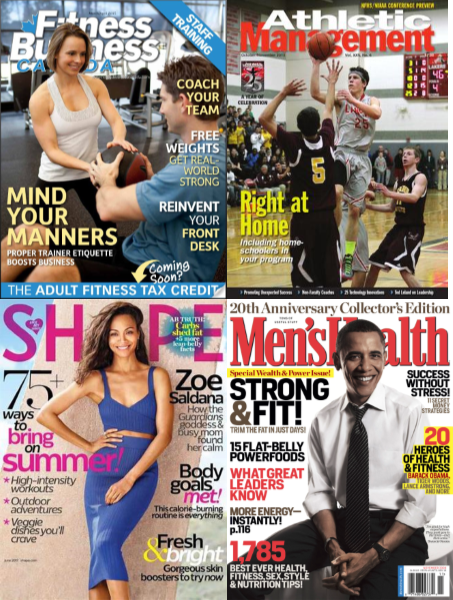 Fitness management magazine & journal covers