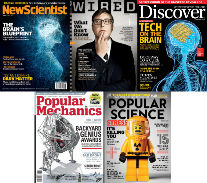 Science & technology magazines & journals