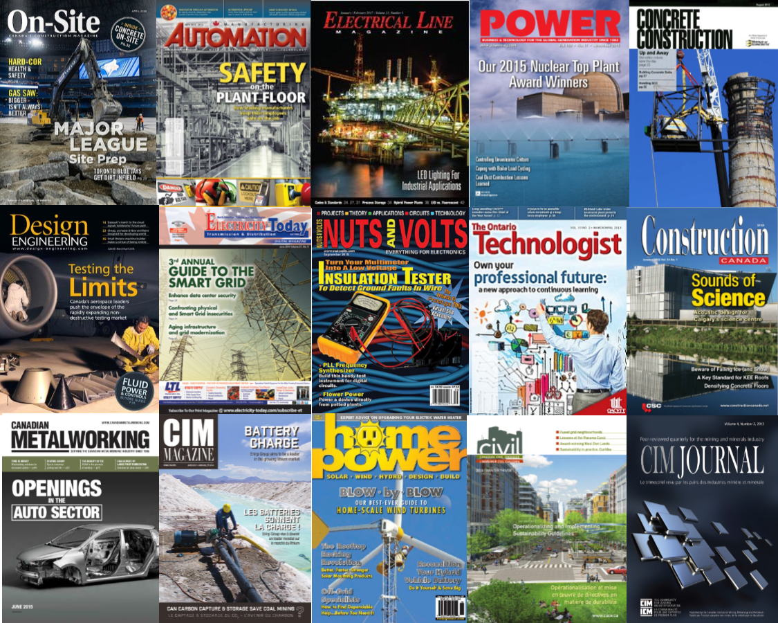 Engineering technology magazine & journal covers