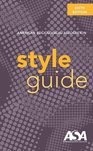 ASA Style Guide book cover