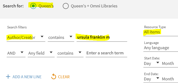 Advanced author search.