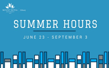 Summer hours graphic