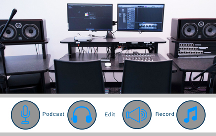 Audio production room