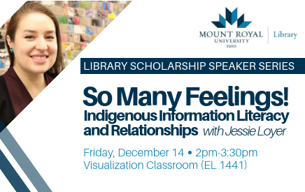 Poster that promotes the Library Speaker Series that starts with a talk on December 14