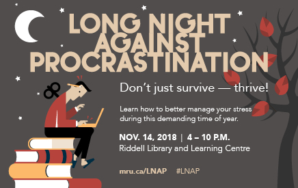 Poster for Long Night Against Procrastination on November 14