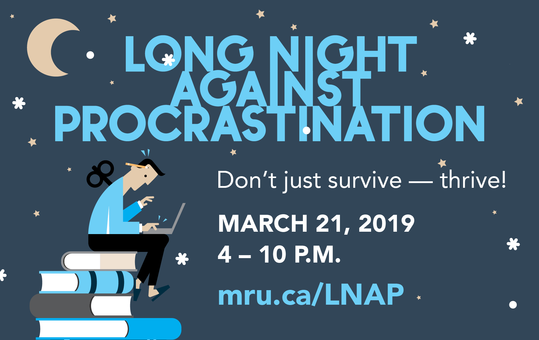 Long Night Against Procrastination in the Riddell Library and Learning Centre on March 21