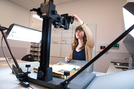 Student digitizes archive material that is now available online through Archives Search