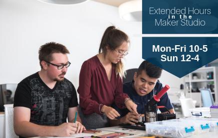 Extended hours in the Maker Studio for the winter 2019 semester
