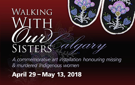 Walking with our sisters exhibit poster