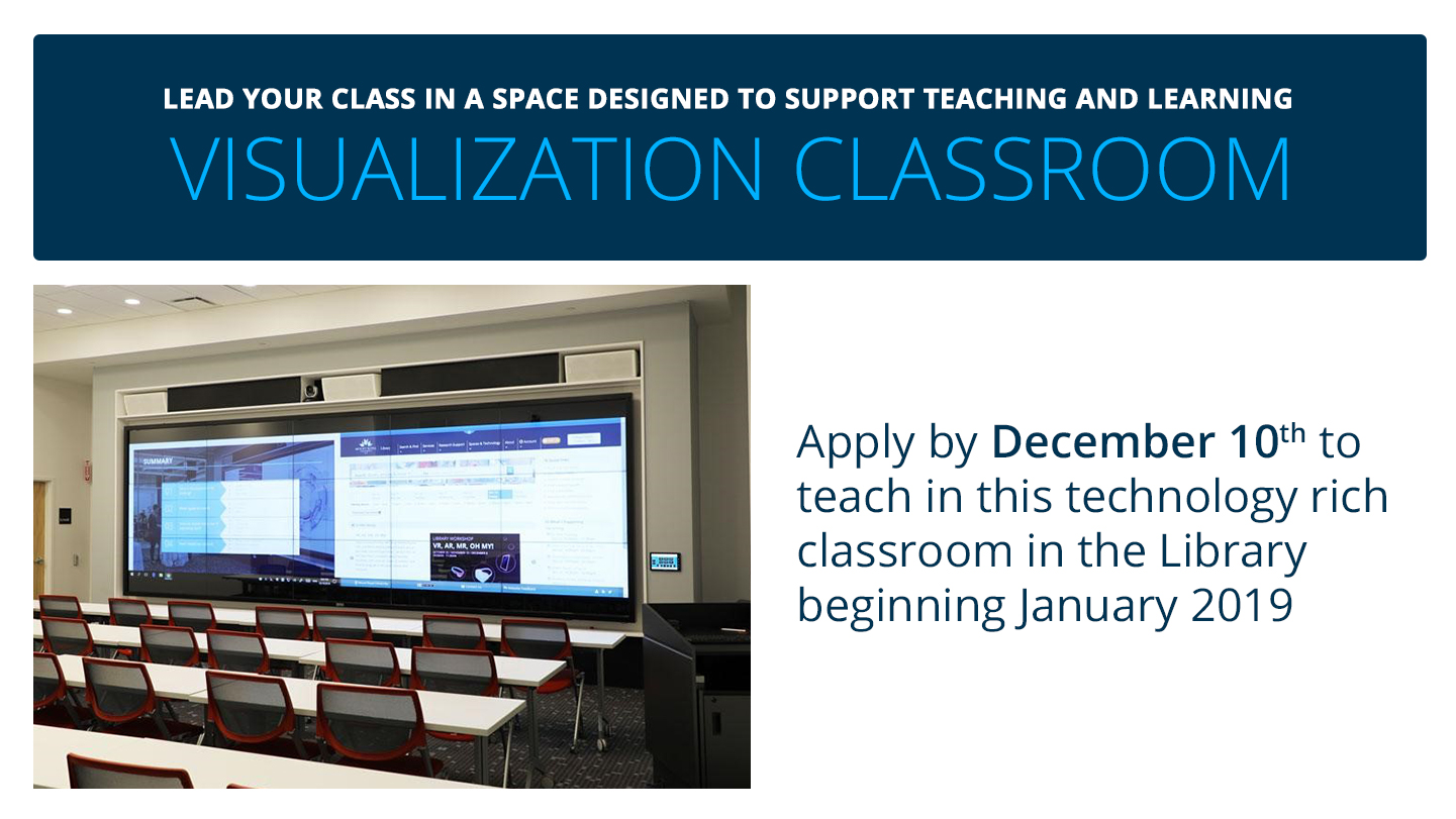 Apply to teach in the Visualization Classroom