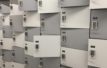 Day-use lockers in the library