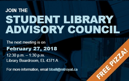 Student Library Advisory Council Meeting Notice