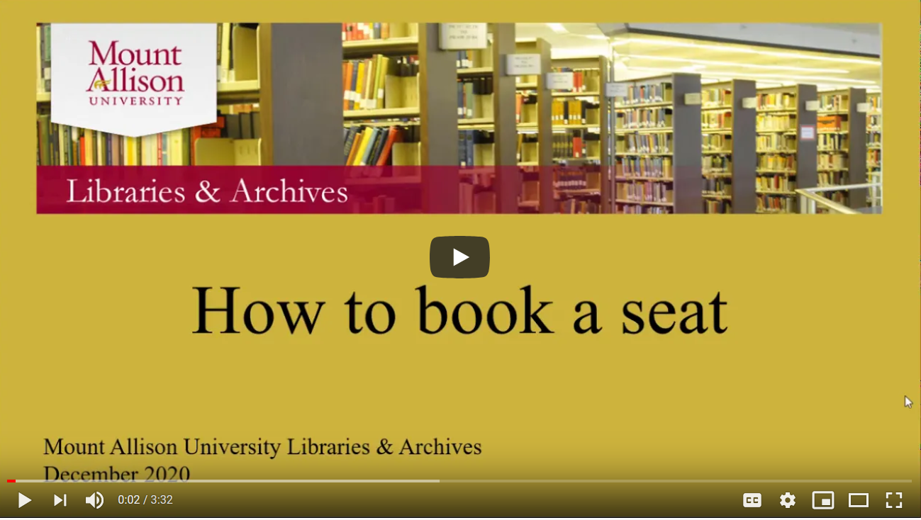 Book a Seat video tutorial