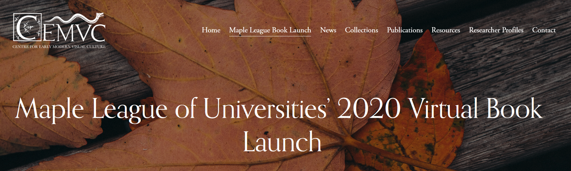 Maple League Book Launch image from website