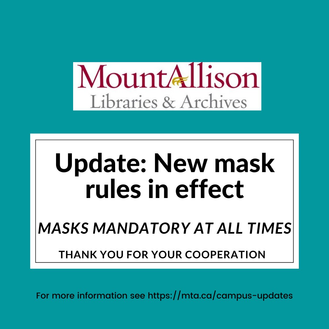 Update: masks are now mandatory in the Library