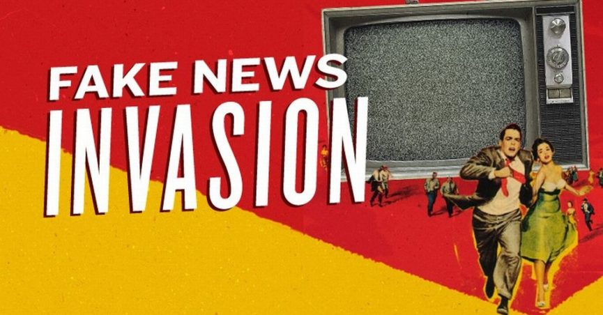 Fake News Invastion graphic