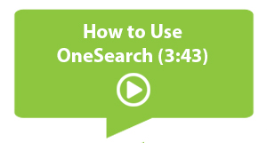 Video on How to Use OneSearch