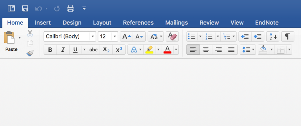 EndNote tab in Word