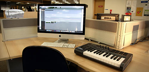 Image of an Apple Computer in the Project Sandbox space