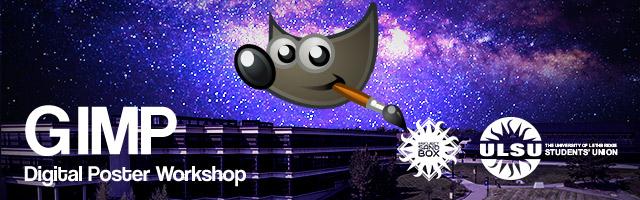 GIMP Digital Poster Workshop Header