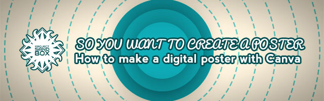 So you want to create a poster with Canva header image