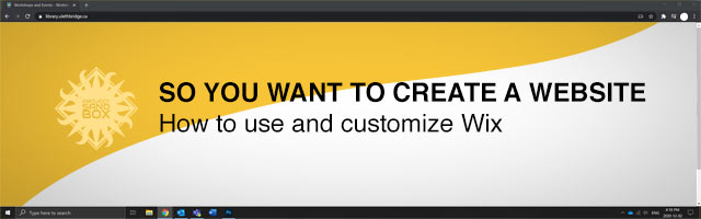 So you want to create a website with Wix header image