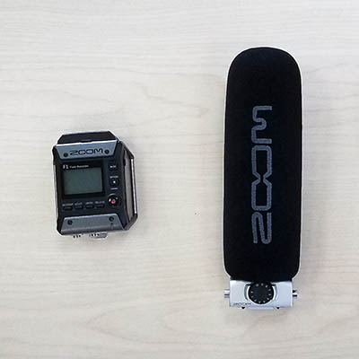 Image of a Zoom F1 Field Recorder